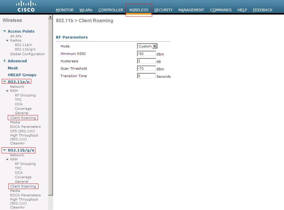Control roaming behavior on your Cisco wireless network