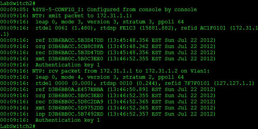 NTP Version 3   CCIE or Null!