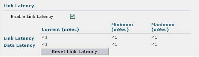 Configuring and viewing Link Latency