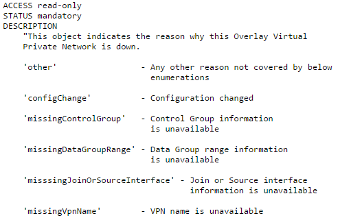 OTV-MIB-Overlay-Down-Description