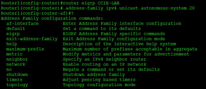 EIGRP-AF-Config-Mode